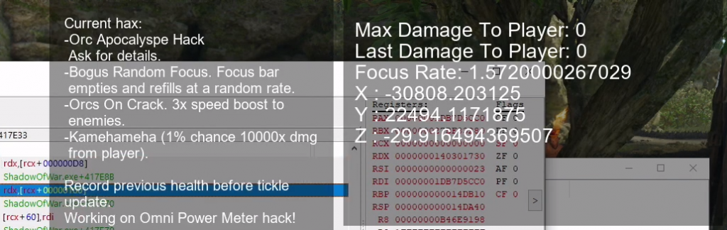Shows the birth of hacked game data statistics, displayed live on stream.