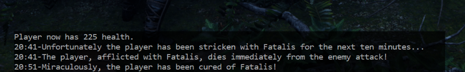 Shows the new Fatalis related events in the Apocalypse event log.
