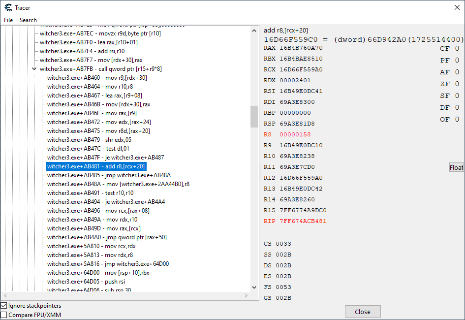Shows a gigantic execution trace from the lookup start, and the magic sauce therein.