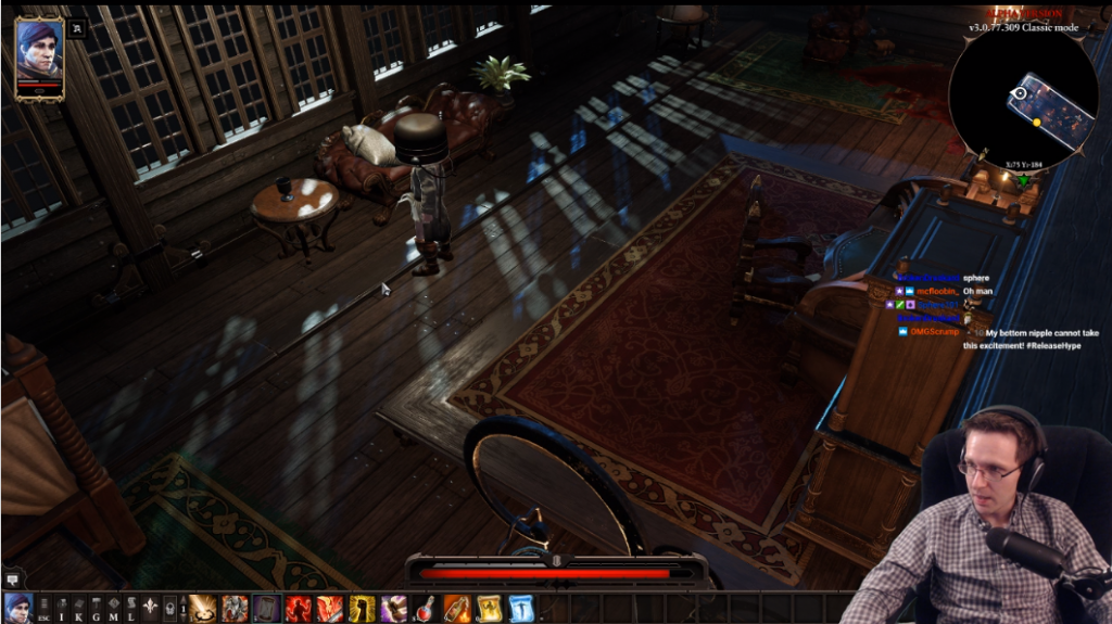Shows Omni playing some Divinity: Original Sin 2.