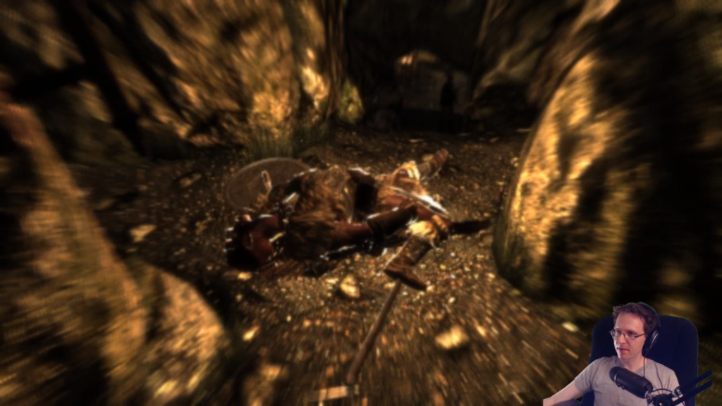 Omni playing some Skyrim, one of the first streams of it.