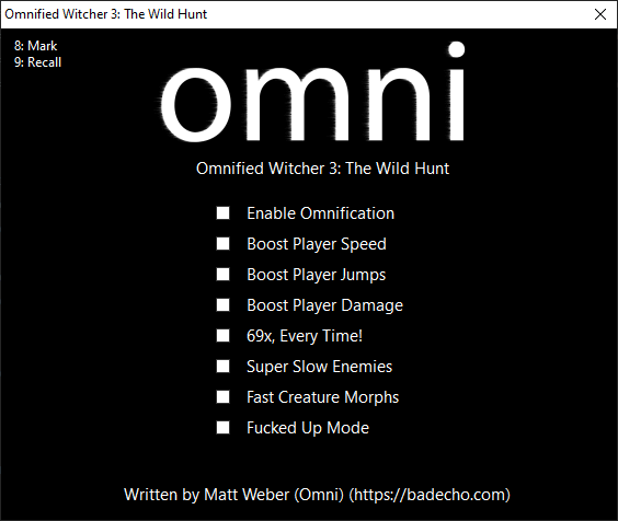 Shows the new interface for the easy-to-use Omnified executable.
