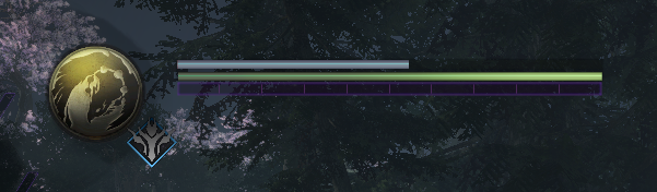Shows the in-game health/stamina bar for the player.