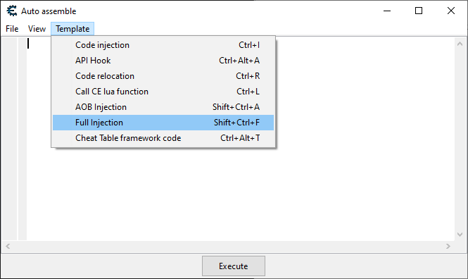 Shows how to do a Full Injection in Cheat Engine.